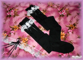 Albica-atra Kneesocks Kuroi (Collection)