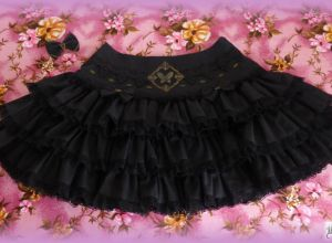 Black Gothic Steam Butterfly Skirt