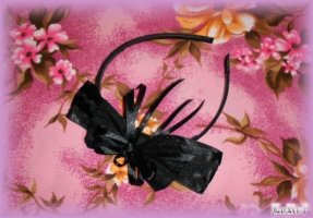 Black Rose Headband (Collection)