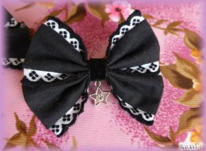 Black Star Bow Hairpin