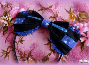 Dark Blue Star Headband