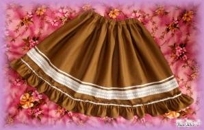 Hnedá Lolita sukňa (Special)