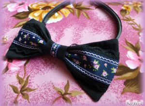 Ornamentic Black Headband I