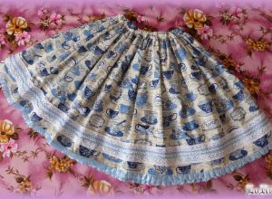 Tea-time Blue Skirt