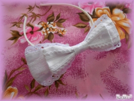 White Ribbon Headband
